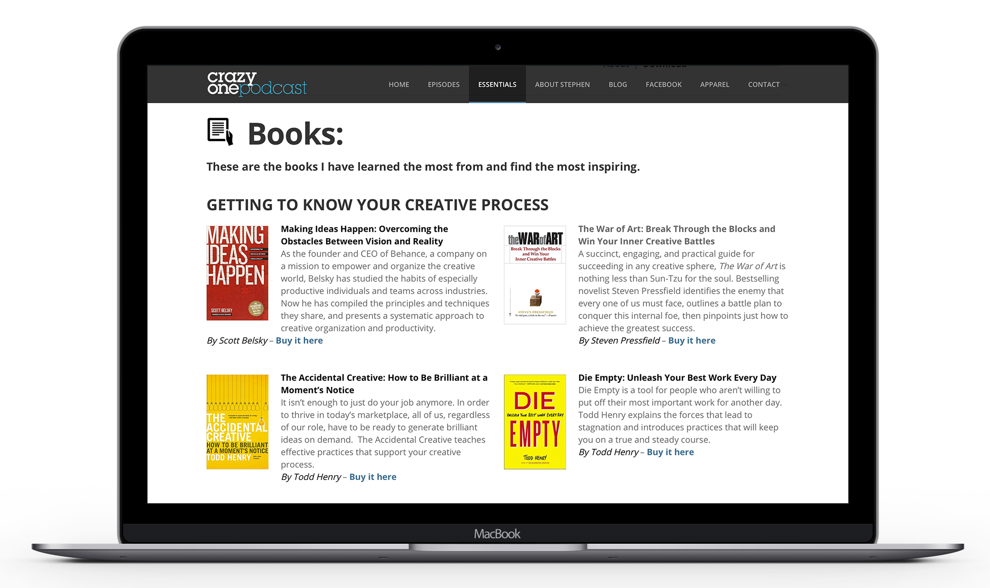 Essential apps, books, videos and more for all creatives
